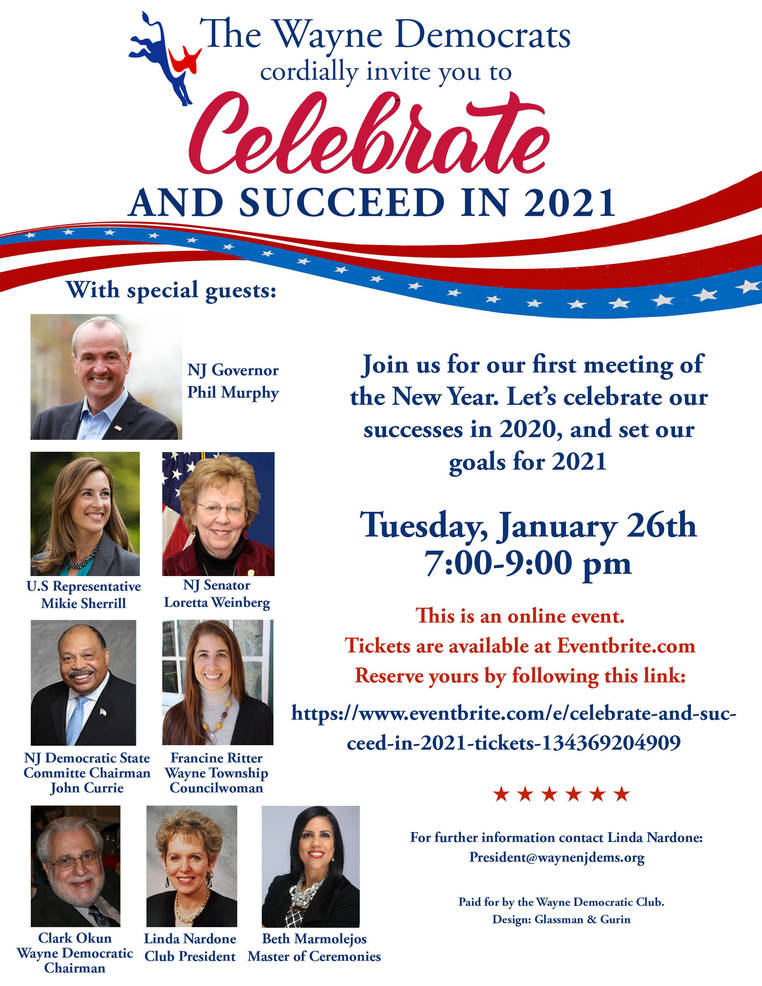 The Wayne Democratic Club presents an exciting online event