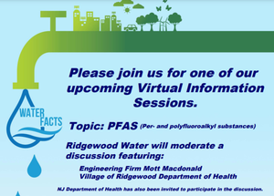 Ridgewood Water to Hold Information Meeting on Zoom Regarding Contaminants