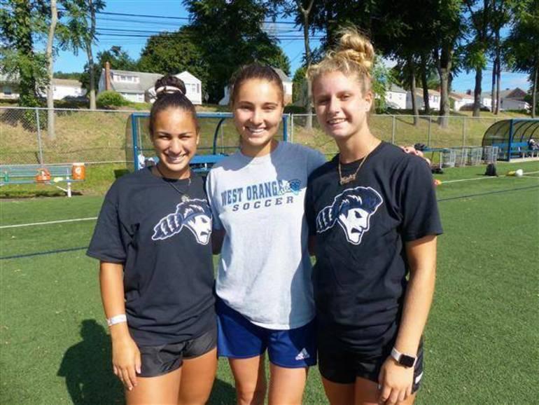 west orange girls soccer captains.JPG