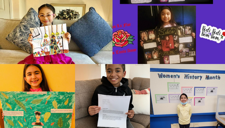 Washington Elementary School Students Win Women's History Month Poster and Essay Competition