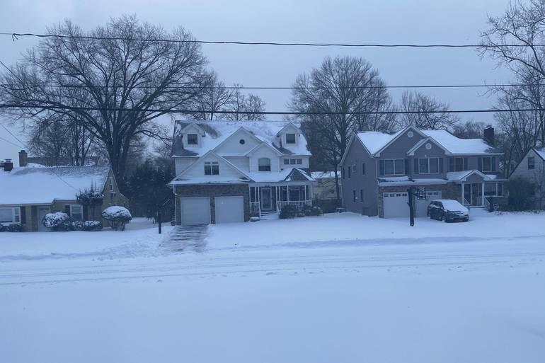 snow fall in westfield