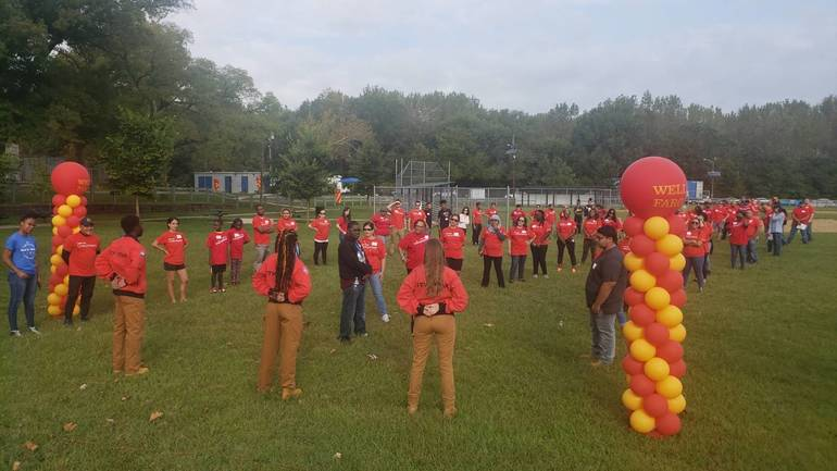 Community, Wells Fargo Pitch in for Cleanup at Camden's Pyne Poynt Park