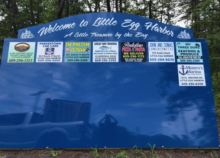 Welcome to Little Egg Harbor Sign