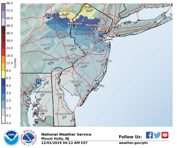 Belmar/Lake Como Weather Alert: Little or No Snow Expected Along Jersey Coast