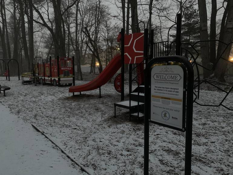 sycamore playground snow