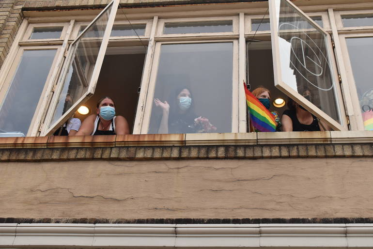 Westfield Raises Pride Flag, 200 Walk to Support LGBTQ Community (Video)