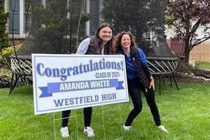 A Lawn Sign Surprise for Westfield High School Seniors