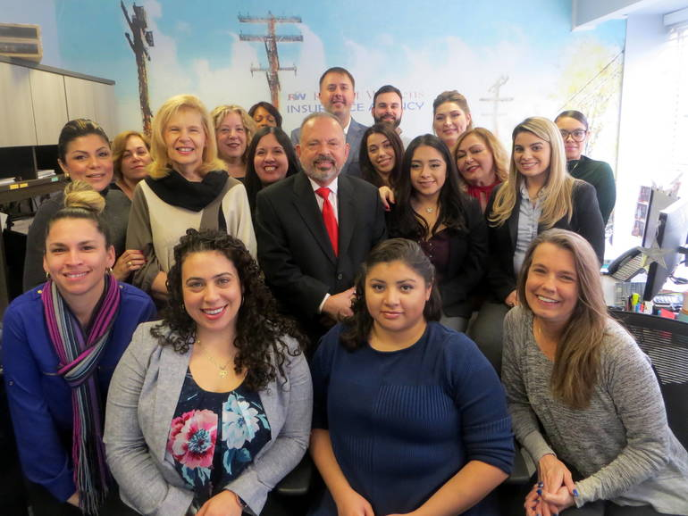 Staff at the Robert J. Wilkens Insurance Agency
