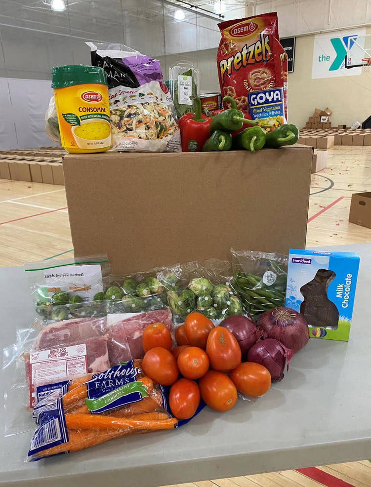 WIN Food Pantry Distributes Food from YMCA and Community Food Bank
