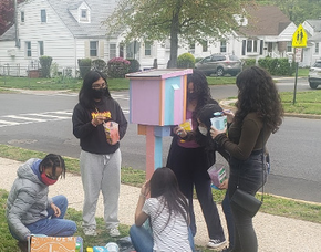 Grace Wilday Junior High School Students Decorate Little Free Library