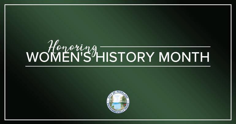 City of Parkland Declares March 'Women's History Month'