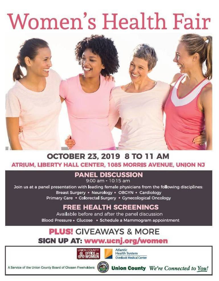 Union County, Overlook Medical Center to host Women's Health Fair in Union