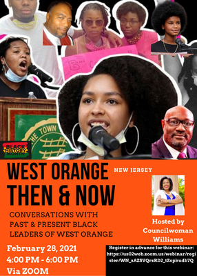 West Orange Then & Now Webinar Feb. 28