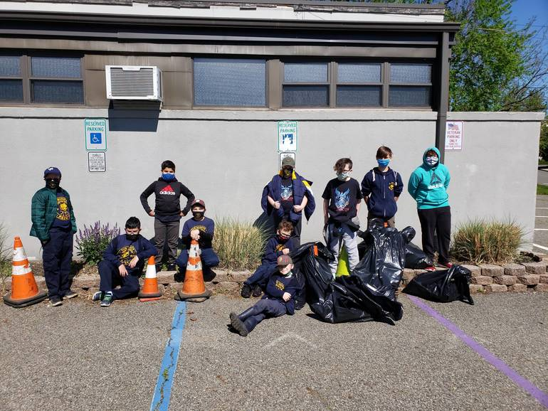 Trash the Trash Day Program Taken Part by West Paterson Scouts