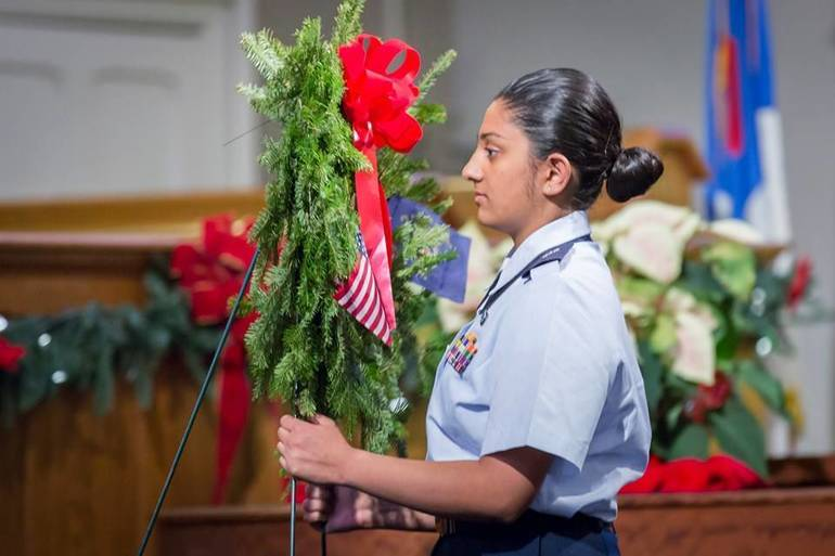 Scenes from the Wreaths Across America ceremony at Scotch Plains Baptist Church on Dec. 14, 2019.