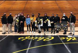 Piscataway Wrestlers, Volleyball Players Honored on Senior Nights
