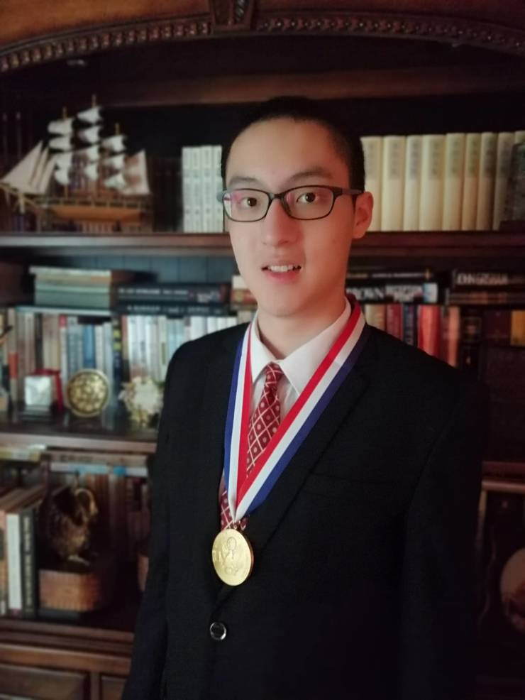 Alan Yeung with US Presidential Scholar Award