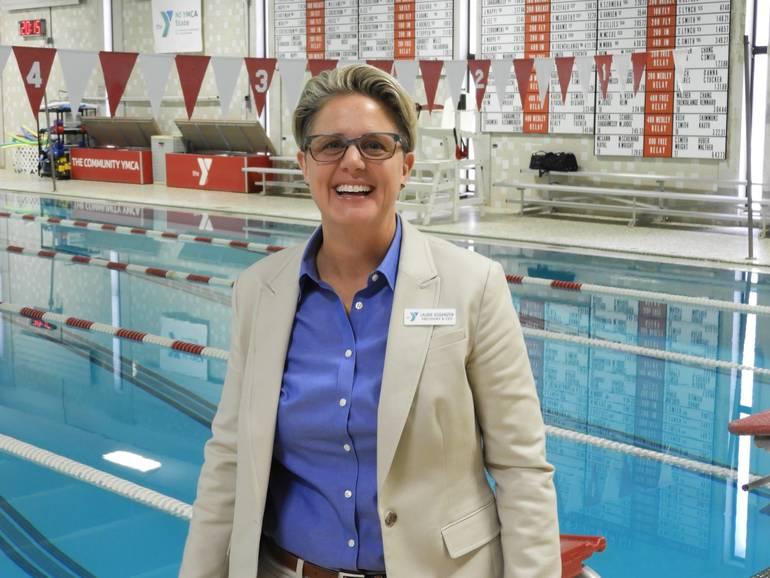 YMCA CEO Laurie Goganzer by the YMCA Swim Pool.jpg