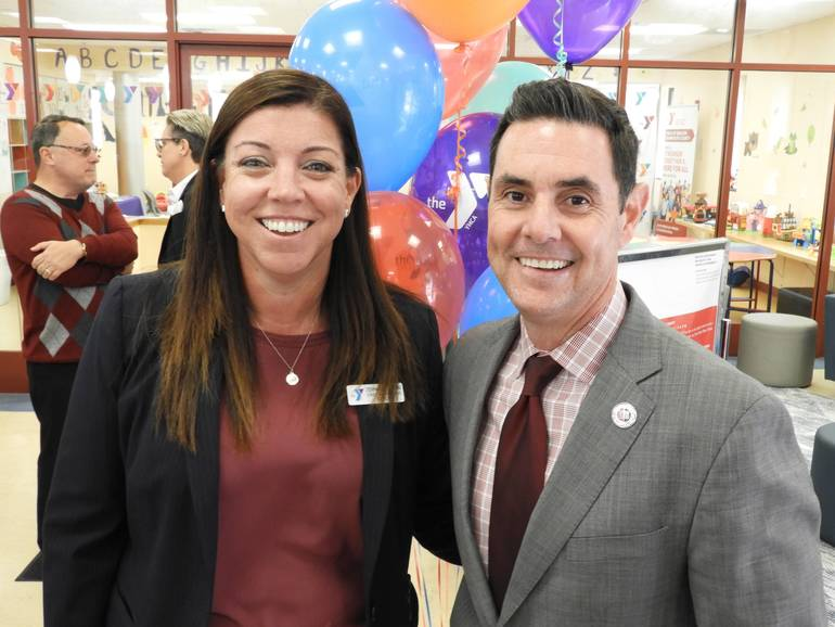 YMCA COO Jennifer Dunn with Dr. Jared Rummage, Superintendent of Red Bank Public schools.jpg