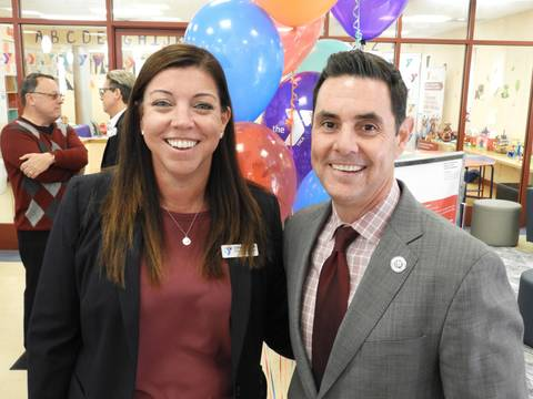 Top story 82ff65dd8852adef4aca ymca coo jennifer dunn with dr. jared rummage  superintendent of red bank public schools