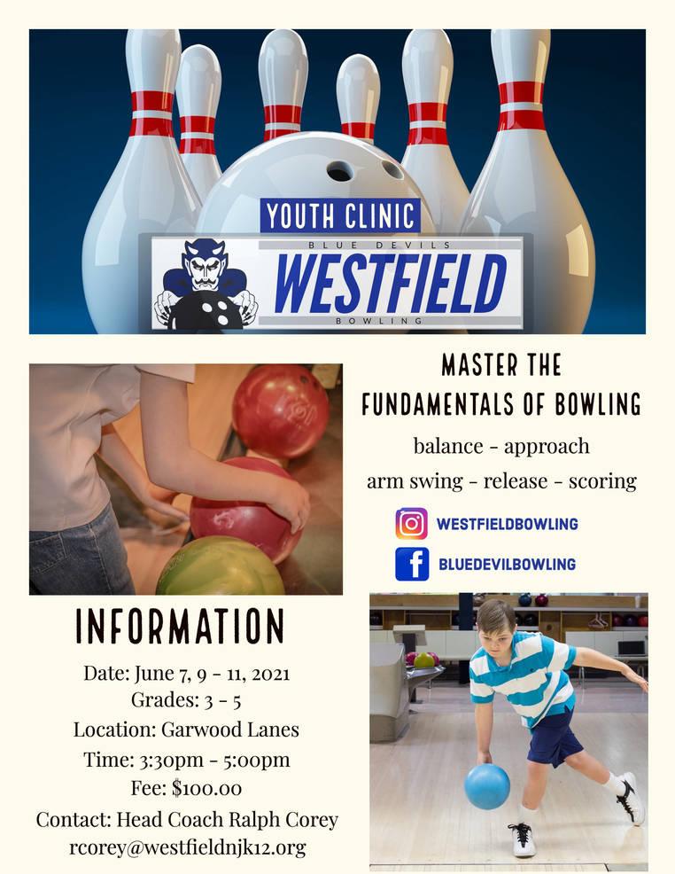 Registration is Open for Westfield Blue Devil Bowling Clinics