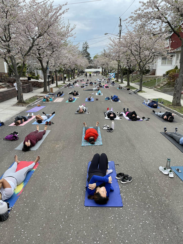 Cherry Blossoms and a Good Stretch in Belleville