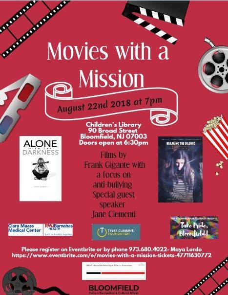 Movies with a Mission in Bloomfield Will Shine a Light on Bullying and Suicide