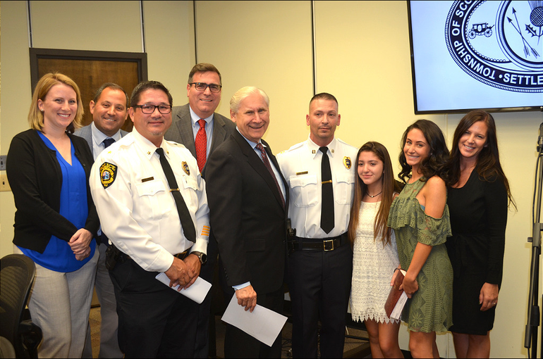 Scotch Plains Police Honor New Captain at Township Council Meeting