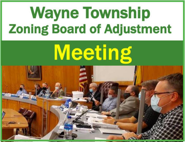 Wayne Zoning Board of Adjustment Updated 2021 Meeting Schedule