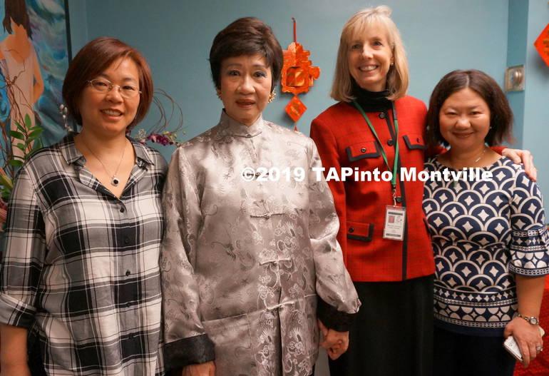 z YuanMei Liu, Margaret Lam, Superintendent René Rovtar, and Monica Ko at the luncheon ©2019 TAPinto Montville.JPG