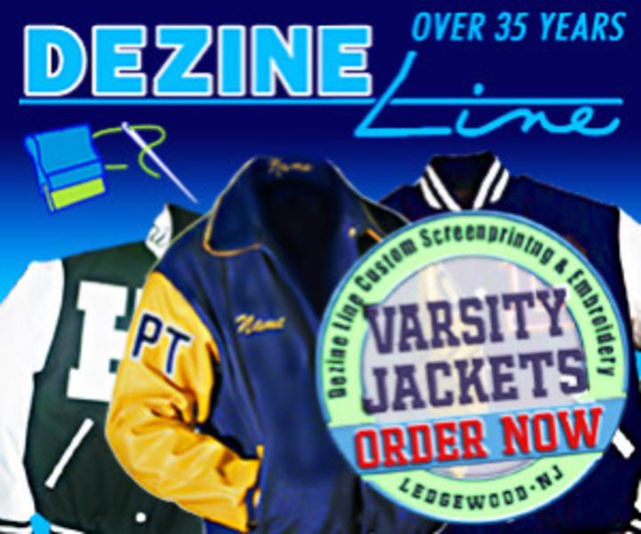 Dezine Line for sports apparel, varsity jackets, Roxbury and Randolph sportswear