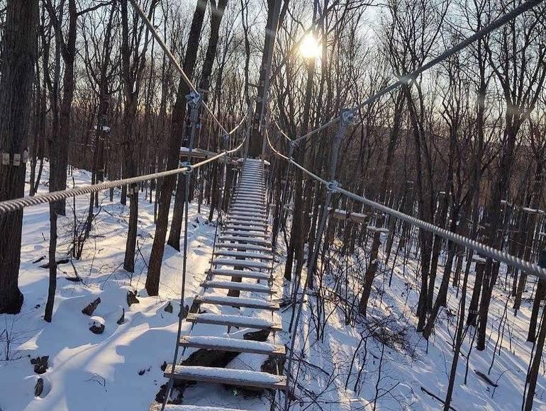 Treetop adventure course, zip line course, high ropes course, Roxbury, NJ, Ledgewood, NJ