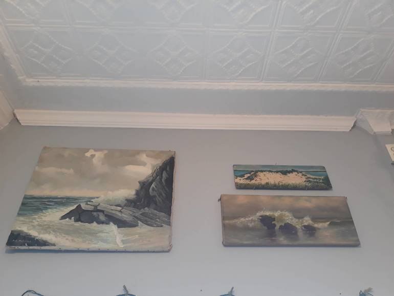 Antique Seascapes - oil on canvas / board