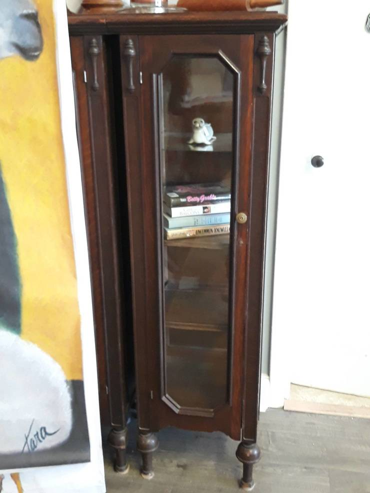 Lovely grand mantel end cabinet - pair