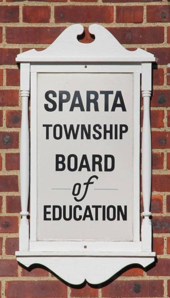 Sparta Board of Education sign