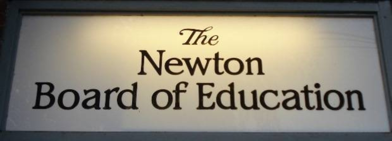 Newton Board of Education sign