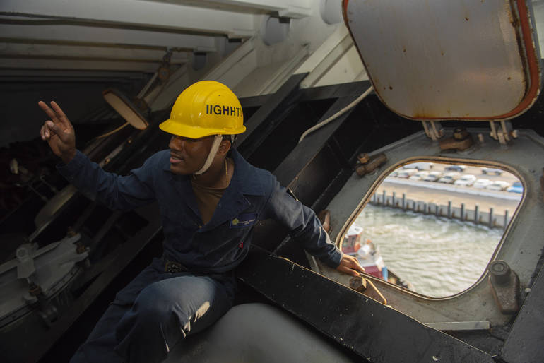 Piscataway Native Serves Aboard Navy's Floating Airport At Sea