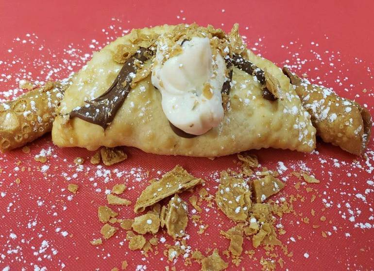 Cannoli Filled Empanada w/ Nutella!