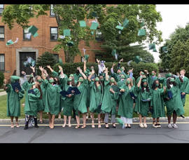 The Class of 2021 graduates from St. Bartholomew Academy in Scotch Plains.