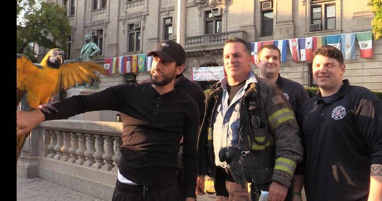 High Flying Chewy Gets Rescue from Paterson Fire Department