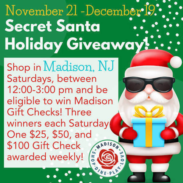 Shop Madison on Saturday and Be Entered to Win the Secret Santa Giveaway