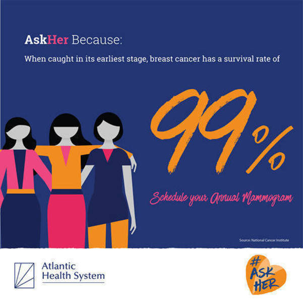 #AskHer Campaign; Schedule Your Mammogram Today at Atlantic Health