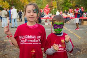 Children at Red Ribbon Family Fun Event