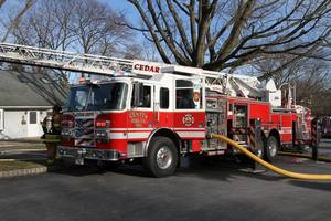 Cedar Grove Fire Department Battles Sunday Blaze on Sunrise Terrace