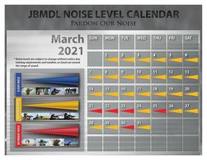 Pardon Our Noise: JBMDL Releases March Noise Level Calendar To Gauge What You Hear