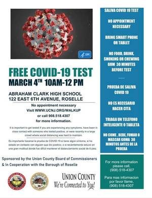 Union County Announces Additional Dates for Free COVID-19 Mobile Unit Testing for March