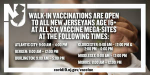 Walk Ins Now Allowed at Morris County COVID-19 Vaccine Mega Site