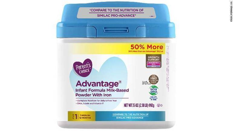 Infant Formula Sold Exclusively at Walmart Recalled Due to