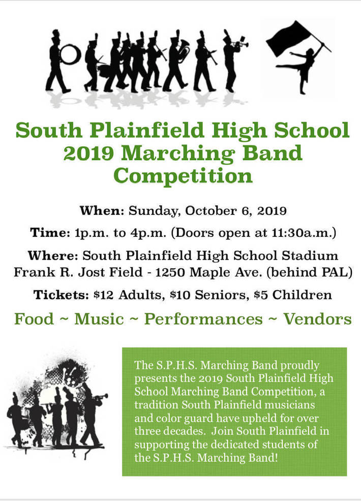 Abraham Clark H.S. and Roselle Park H.S. to Compete in the S.P.H.S. 2019 Marching Band Competition on Sunday