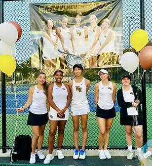 Watchung Hills Celebrates Girls Tennis Seniors 2021